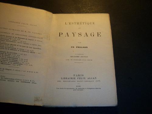 l'esthétique du paysage . fr paulhan . en francés