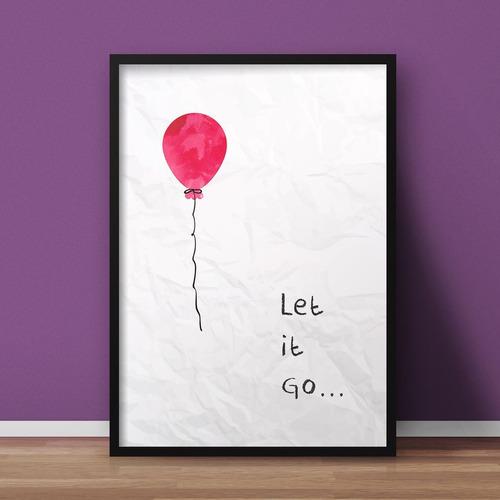let it go (preto, 40x60cm)