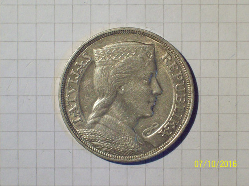 letonia 5 lati plata 1931