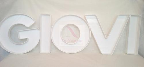 letra 20 cm personalizada hueca carteles polyfan  tu nombre