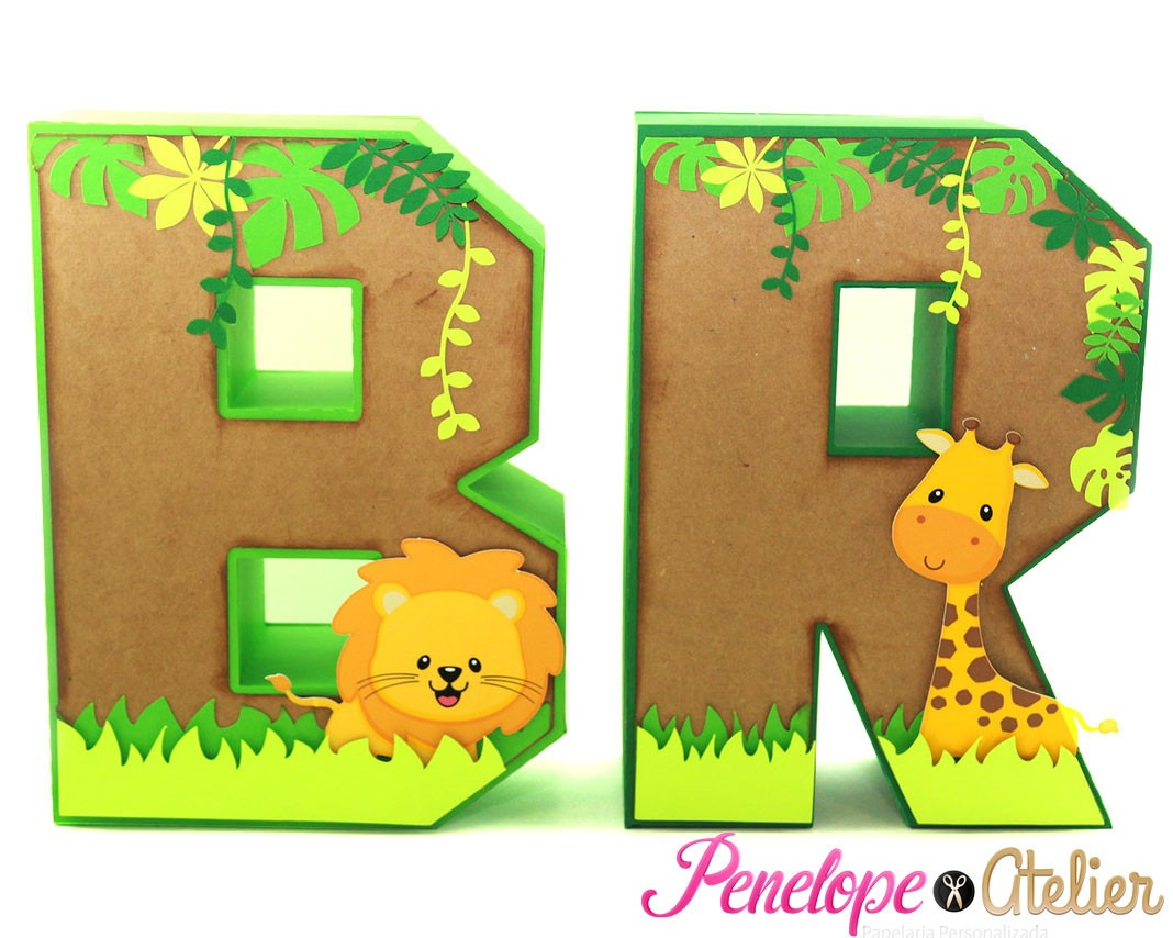 Letras Decoradas Con Animales
