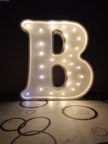 letra 50 cm luces led polyfan nombre luz iluminado quince eventos