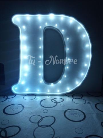 letra 50 cm luces led polyfan nombres luminosos belgrano