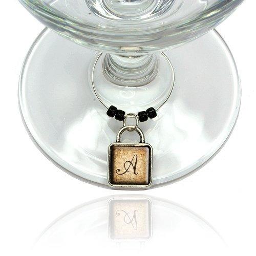 letra a en cork diseño de vino del vidrio de la bebida del