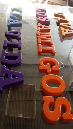 letra caixa alto relevo xps - com pintura - letreiro fachada