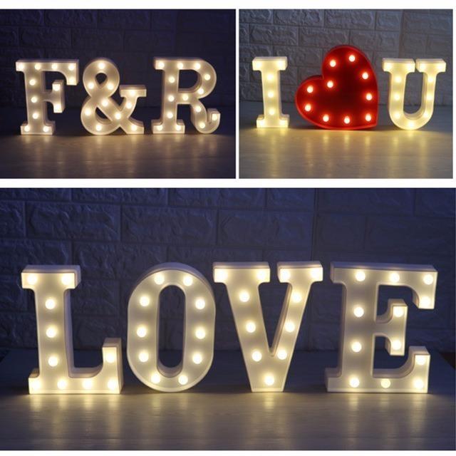 letra com luz letras iluminadas de pilha decorativa festa r 19 50 em mercado livre. Black Bedroom Furniture Sets. Home Design Ideas