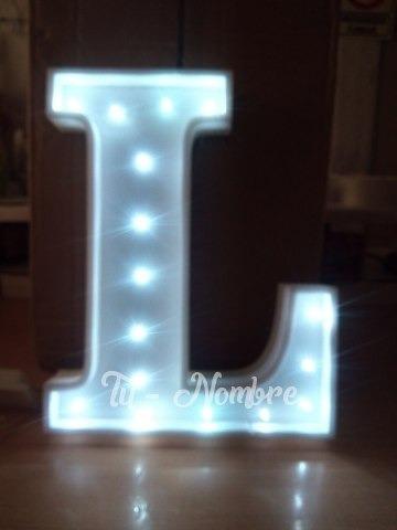 letra con luz led 30 cm polyfan belgrano tunombre
