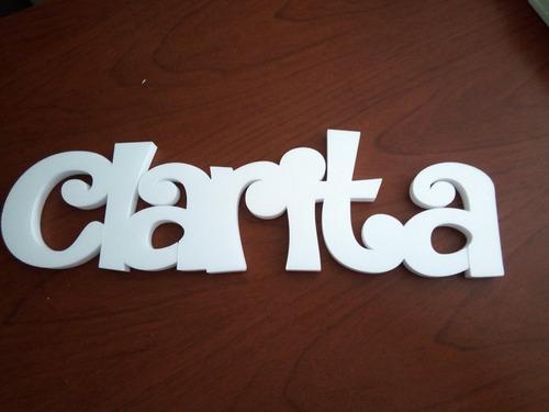 letra corpórea 25 cm polyfan tu nombre importa carteles