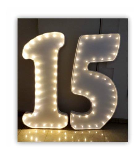 letra de 1 metro c/luces led polyfan nombre carteles pintada