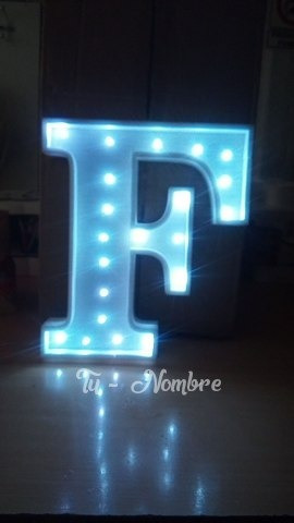 letra de 15 cm luces led polyfan nombres luminosos