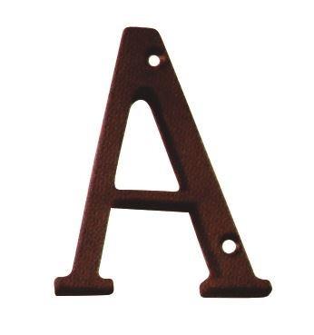 letra de hierro colonial  a   75mm           ab brass   ci07