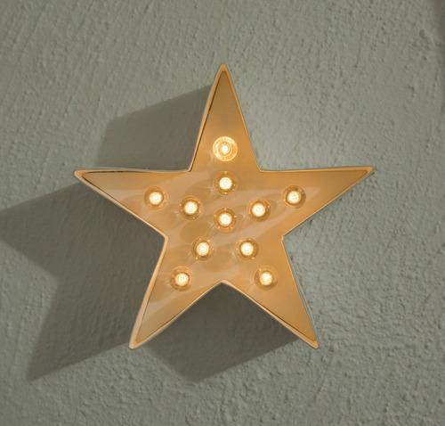 letra estrella con luz, puedes decorar marquee love