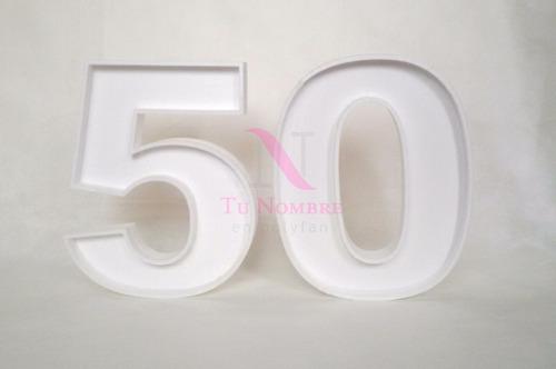 letra hueca 20 cm polyfan personalizadas en 4 dias