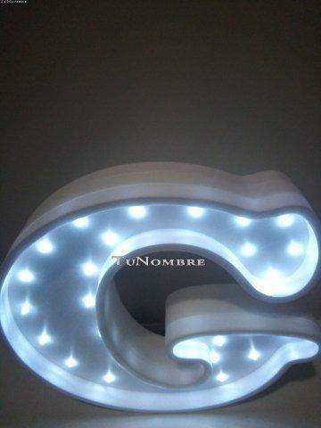 letra luces led 30 cm personalizada de polyfan belgrano