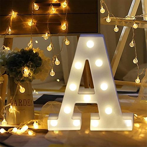 letra luz led lampara decorativa luces alfabeto hogar fiesta
