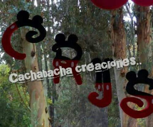 letra mickey cartel..nombres espuma plast