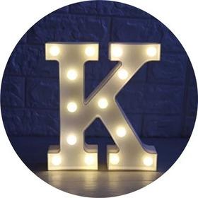 Letra O Numero Luminosa Luz Led 16 Cms Funciona Con Pilas