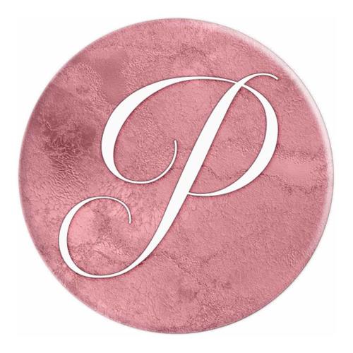 letra p rosa elegante iniciales de monograma - grip y popsoc