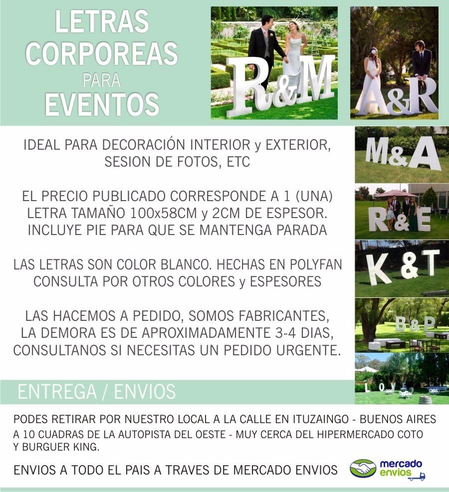 Letra Para Eventos 1 Metro De Alto Iniciales Boda 15 Años - $ 720,00 ...