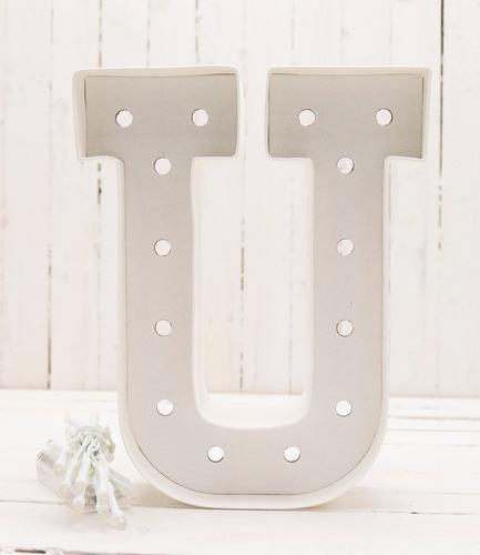 letra u carton decoracion focos scrapbook marquee letter hs