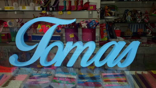 letras 15 cm pintadas corporeas candy polyfan belgrano