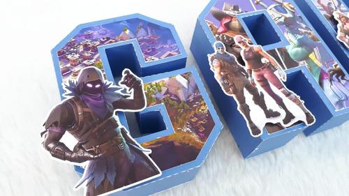 letras 3d fortnite cumpleaños candy bar decoracion x4 letras