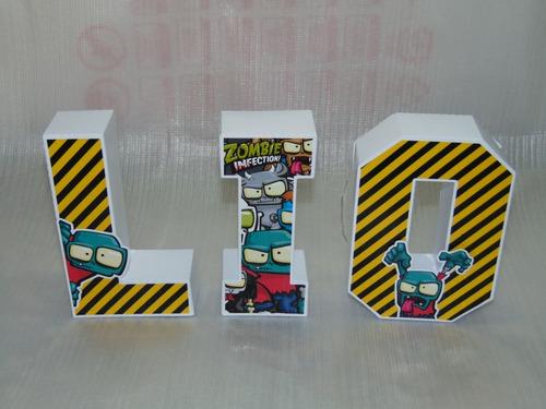 letras 3d todas las temáticas y personajes
