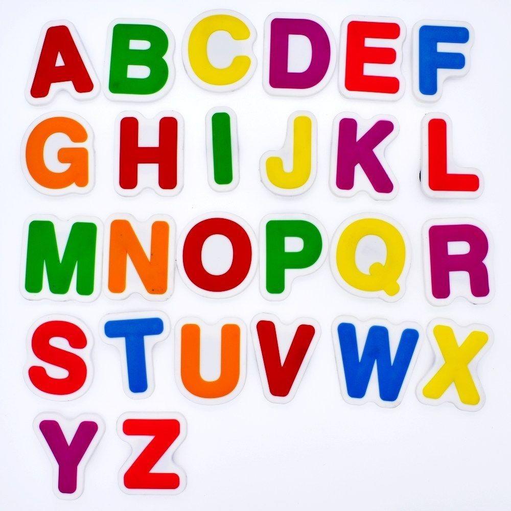 Letras Alfabeto En Colores Magneticas - $ 2.703,86 en Mercado Libre