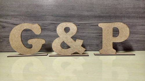 letras base mdf cru 12cm altura - compre 8 leve 10 (20% off)