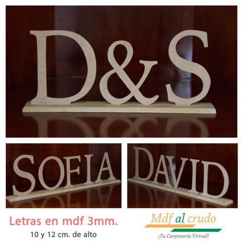 letras con base en mdf al crudo para pintar y decorar.