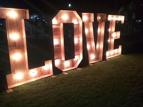 letras con luces  love alquiler , bodas,15 años y mas