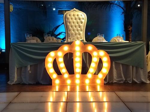 letras con luces/cortina y telón de luces led para  alquiler