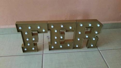 letras con luz led inalambricas de 25 cm