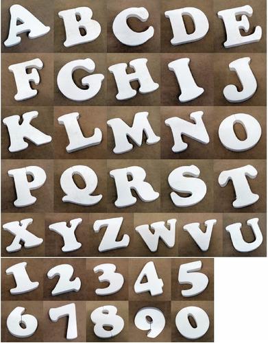 letras corporeas 14cm golosinas candy bar - souvenir