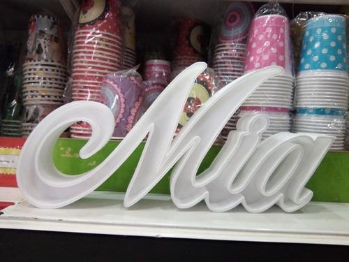 letras corpóreas 15 cm alto 2 cm espesor polyfan sin pintar