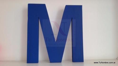 letras corporeas 20 cm pintadas polyfan souvenirs decoracion