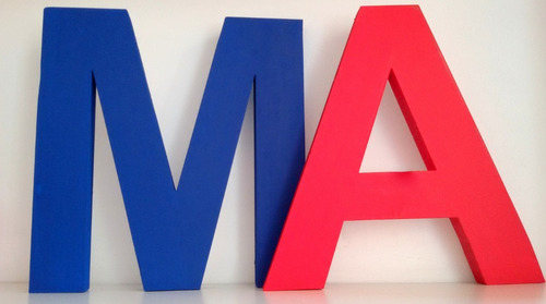 letras corporeas 30 cm polyfan pintadas carteles negocios