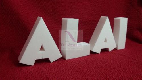 letras corporeas de 4 cm x 20 cm polyfan casamientos escena