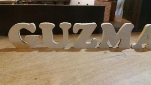 letras corporeas en madera mdf 12cm