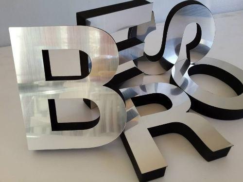 /Acero inoxidable cepillado con 3/M Your Design/ Metal Letra S/ /4/cm de altura