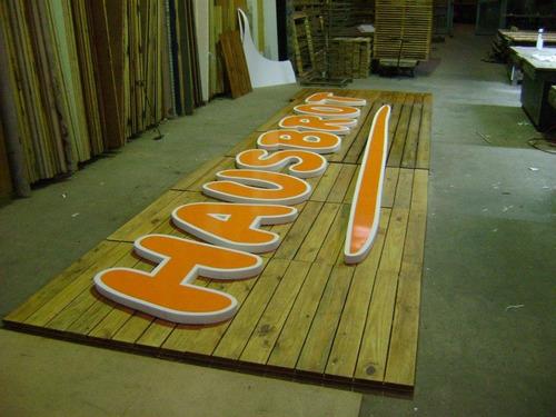 letras corporeas polifan 20cm pintadas promocion