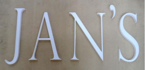 letras corporeas polifan carteles marquesinas