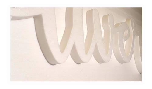 letras corporeas polyfan de 30 cm alto por 2 cm espesor