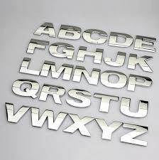 letras cromadas 26mm . kit com 08 letras.(a escolher).