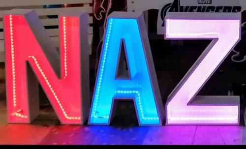 letras de 60 cm con tira led