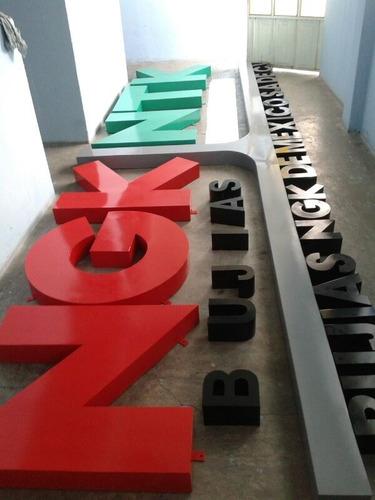 letras de aluminio 3d de 20 cm diferentes acabados