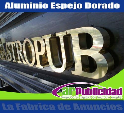 letras de aluminio, acrilico, mdf, anuncios 3d, logos