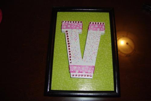 letras de decoración, hecha de mdf