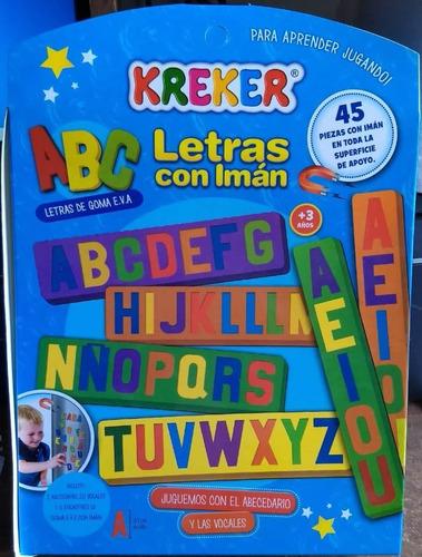 letras de goma eva con iman en caja de kreker