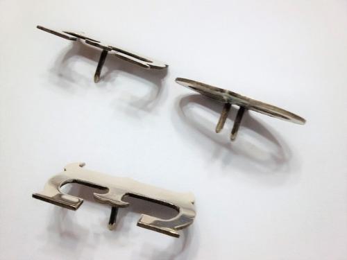 letras de plata para rastra/tirador